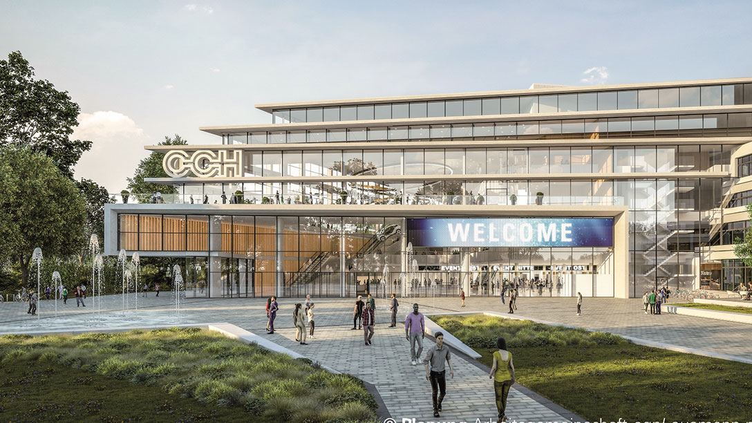 A conceptual design of the new CCH in Hamburg